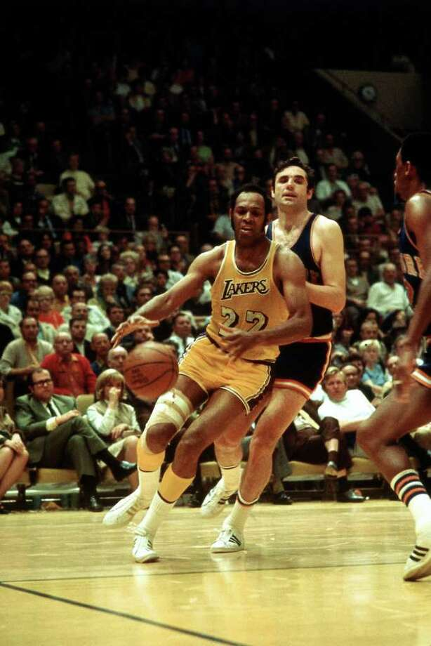 Elgin Baylor, who played for the Minnesota and Los Angeles Lakers, averaged a double-double in 11 seasons, from 1958-65 and 1966-70. His career average was 27.4 points and 13.5 rebounds. His best seasons were 1960-61, when he averaged 34.8 points and 19.8 rebounds, and 1961-62, when he averaged 38.3 and 18.6. Photo: Wen Roberts, File Photos / 1972 NBAE