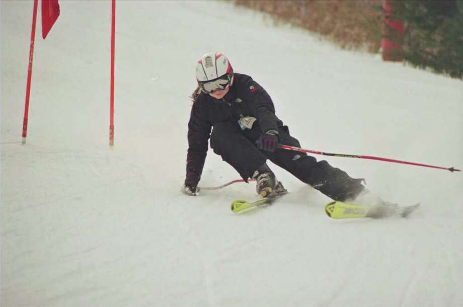 Weston senior Caroline Quinn was the team's fifth skier at State Open March with combined times of 53.72 to place 30th overall. The Lady Trojans placed fourth. Photo: Contributed Photo / Rich Fanning