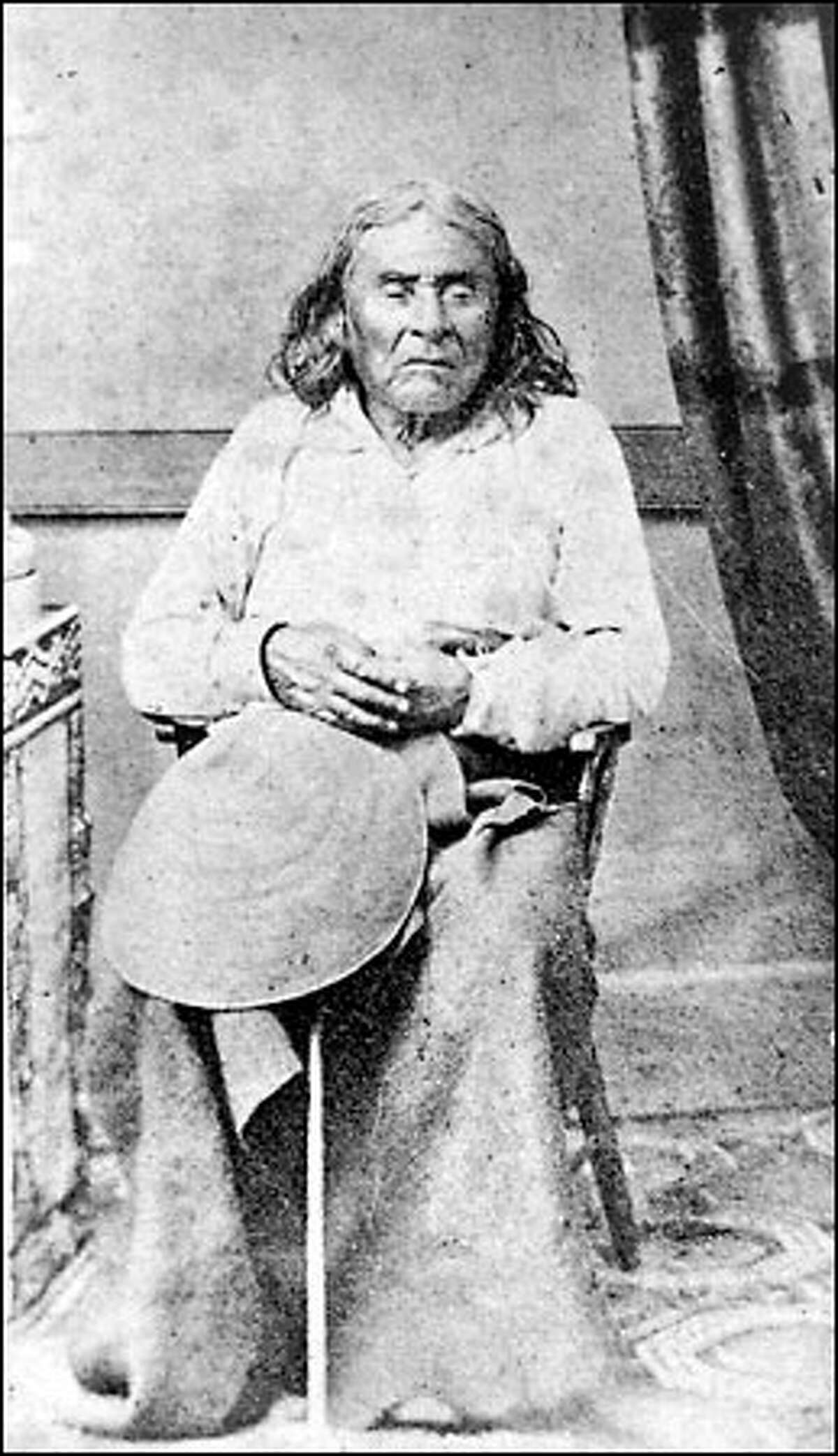 The only known photograph of Chief Seattle was taken in the 1860s as he neared his 80th year, a venerable leader respected for his peaceful ways.
