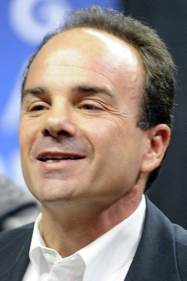 Former Bridgeport Mayor Joe Ganim is part of the crowd waiting for the start of the President Barack Obama rally at the Arena at Harbor Yard in Bridgeport, Conn. Saturday, Oct. 30th, 2010. Photo: Ned Gerard / Connecticut Post
