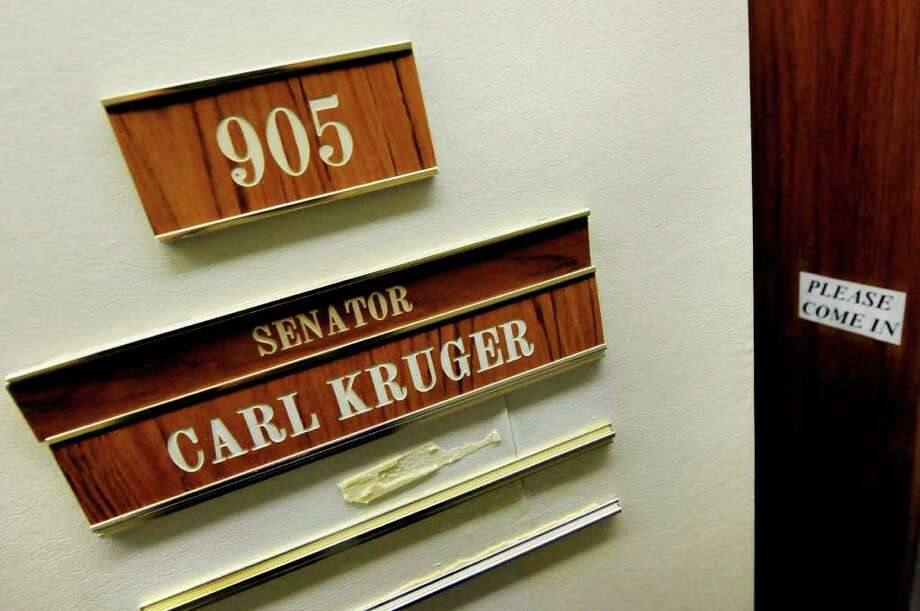Sen. Carl Kruger's office door on Thursday, March 10, 2011, at the Legislative Office Building in Albany, N.Y. (Cindy Schultz / Times Union) Photo: Cindy Schultz