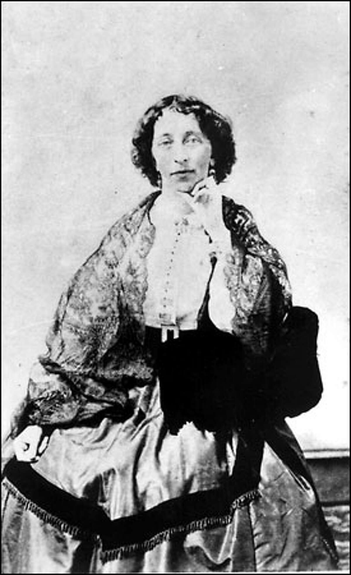 Elizabeth Ordway, the Mercer Girl who didn't marry, is pictured a few years after her 1864 arrival in Seattle.