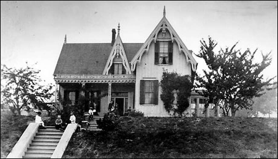 The home that Charles Terry built for his bride on the northwest corner of Third Avenue and James Street was considered one of the finest in Washington Territory in the 1850s and '60s. Photo: / Seattle Post-Intelligencer