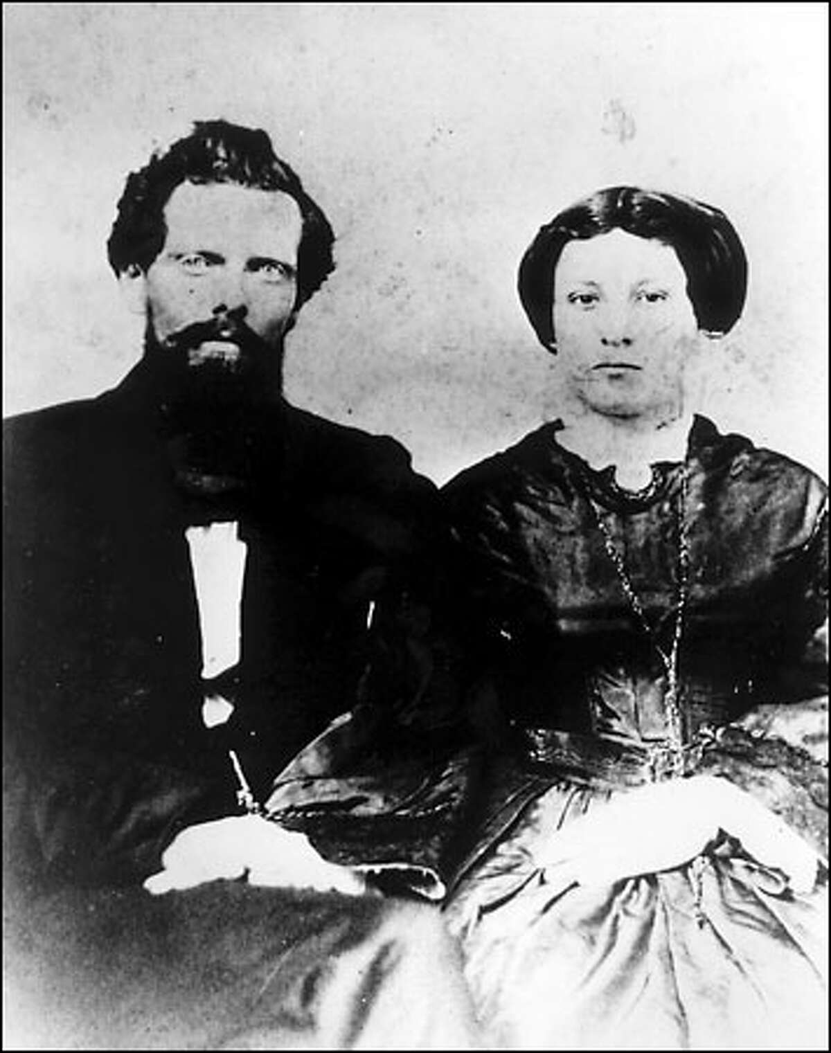 Charles Terry wed Mary Jane Russell in 1856, and they became a popular couple in the tiny village of Seattle.