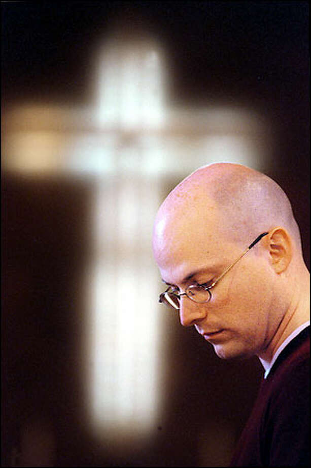 The Rev. Mark Williams will return as pastor of Woodland Park United Methodist Church in Seattle, but he faces a possible suspension because of his earlier announcement that he is gay. Photo: Paul Joseph Brown/Seattle Post-Intelligencer