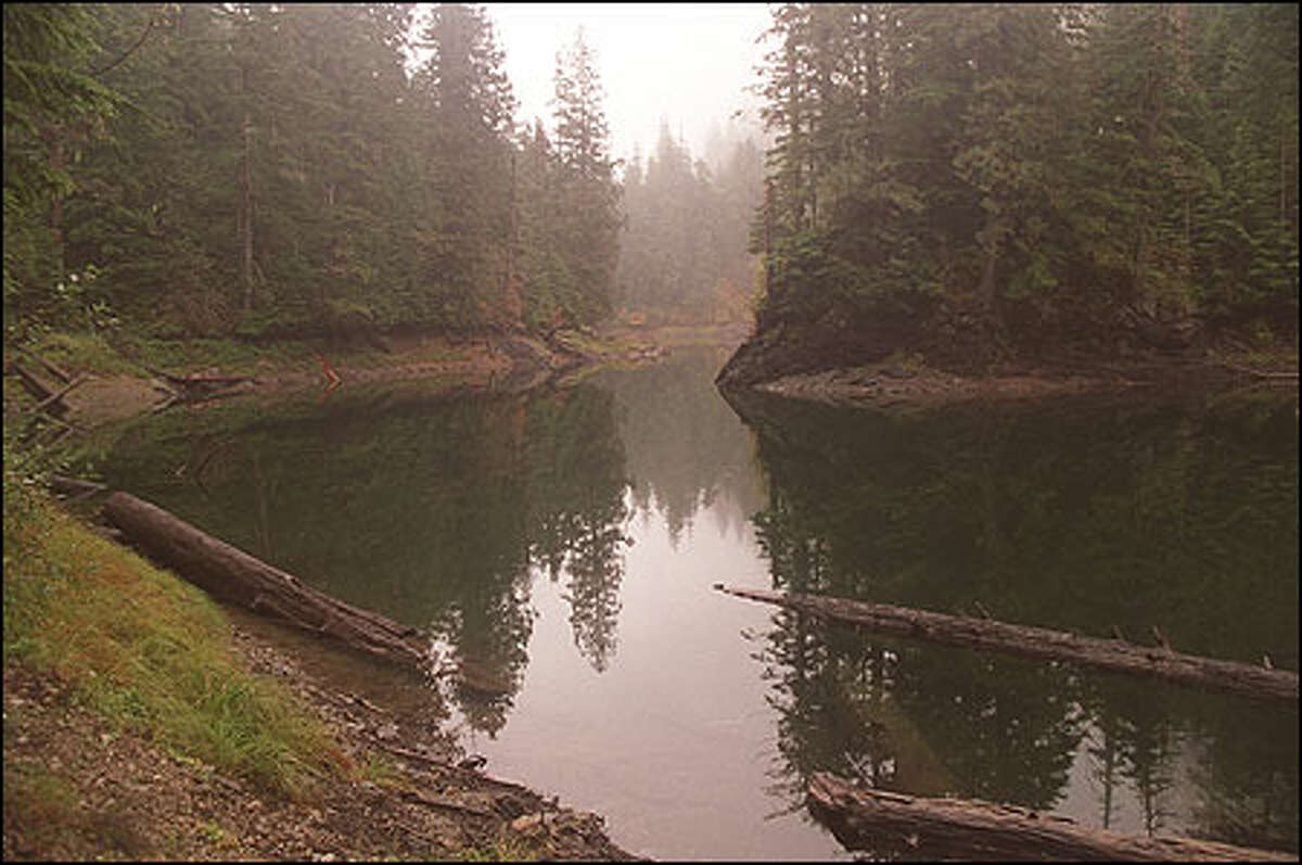 Known more to fishermen than hikers, seldom-visited Canyon Lake is tucked away just inside the Boulder River Wilderness. The wilderness area was work of a self-described