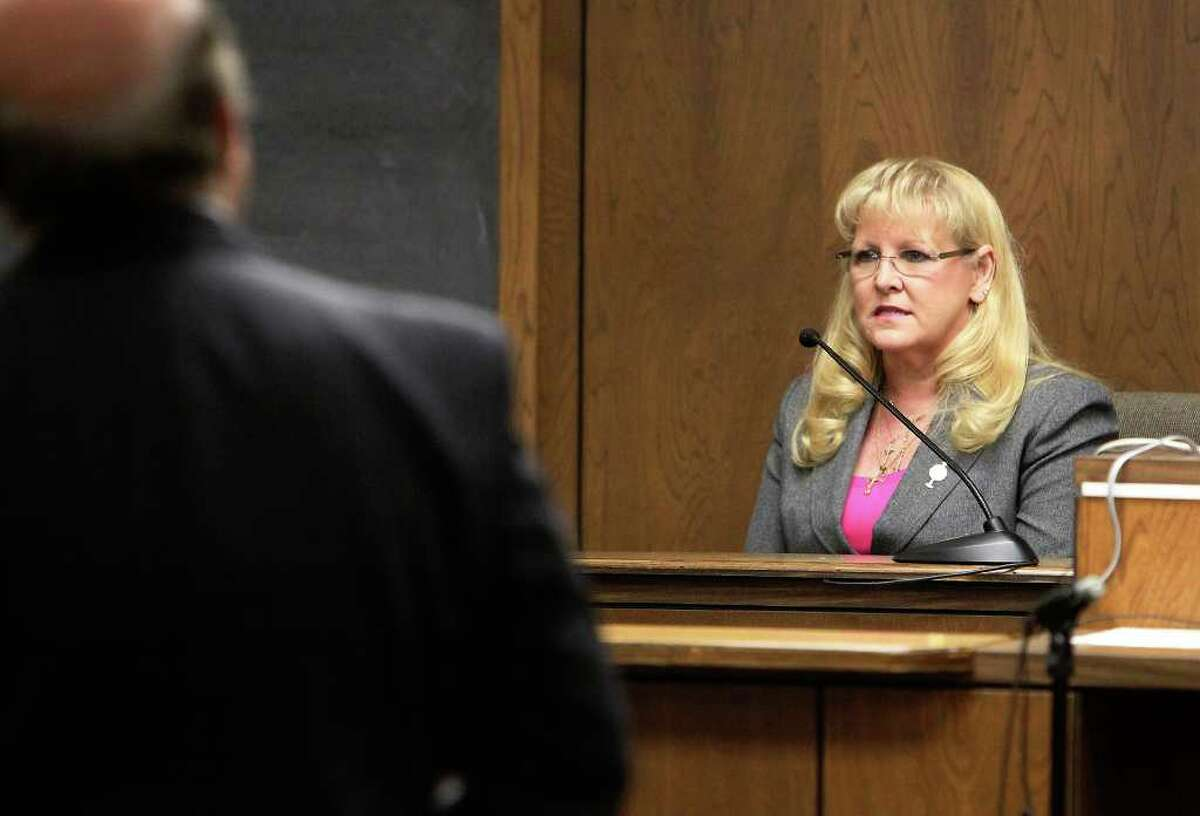 Tammy Perez takes the stand in her civil case against Christus Santa Rosa Health System. Perez says the system defamed her for blowing the whistle on its Westover Hills hospital.