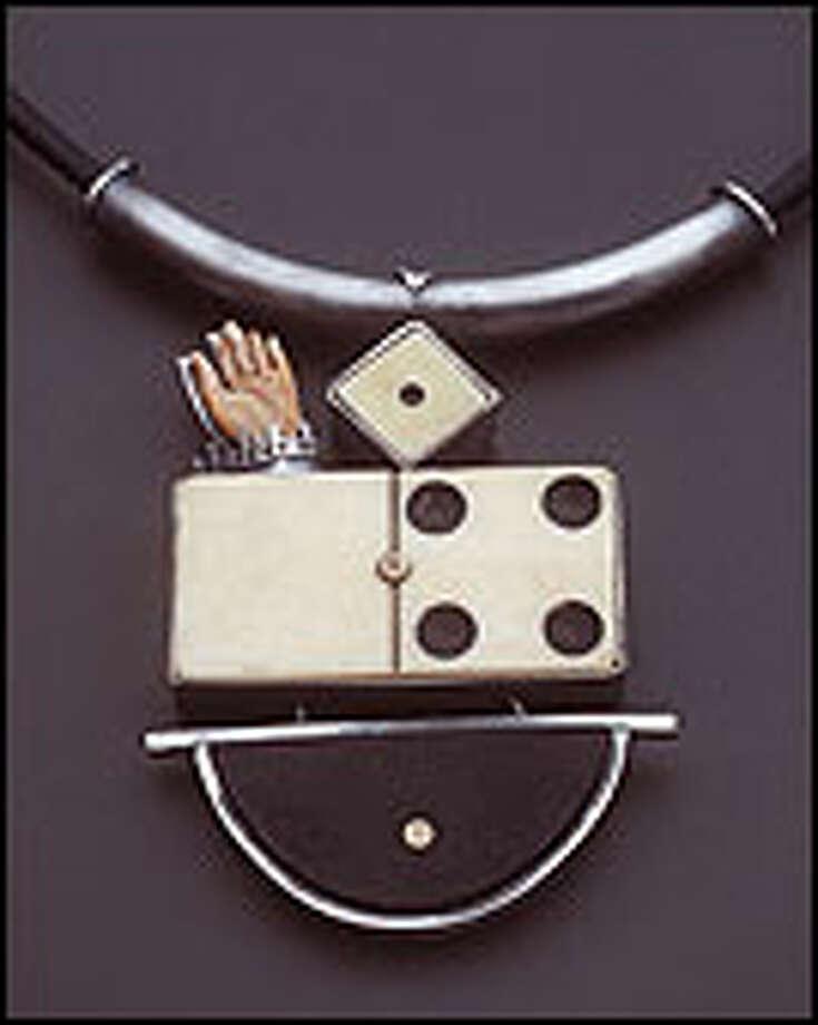 "Solberg's ""Look I'm a Winner"" incorporates her trademark domino. Photo: RICHARD NICOL"
