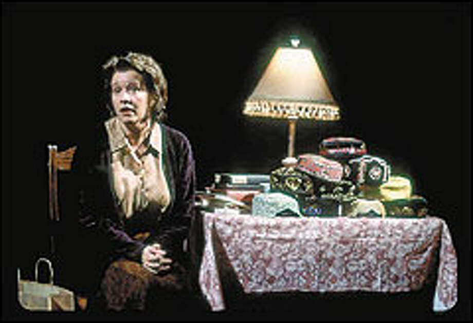 """Linda Emond plays the Homebody in """"Home- body/Kabul."""" Tony Kushner's new play was written before Sept. 11 and is not a polemic. Photo: JOAN MARCUS"""