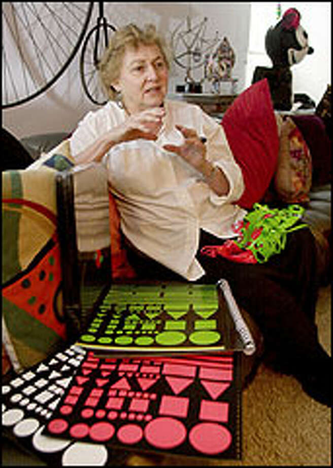 Patricia Kislevitz and her ex-husband, Harry, developed Colorforms 50 years ago as a low-cost alternative to paint. By 1990, a billion kits were sold. Photo: THE ASSOCIATED PRESS