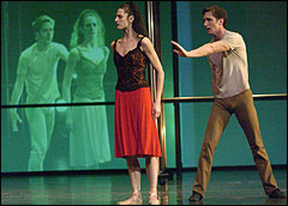 """In """"Carmen"""" video artist Iole Alessandrini uses the medium to enrich the narrative. Here Ariana Lallone dances the title role with Jeffrey Stanton as Don Jose."""