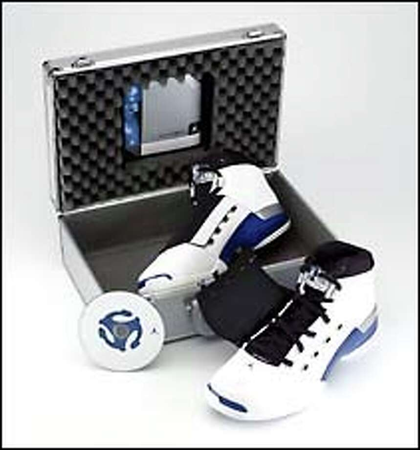 Nike's Air Jordan XVII, along with its case and a CD, is arriving in