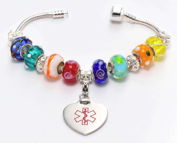 Medical Rubber Bracelets - Gemstone Globes - Childrens Jewelry