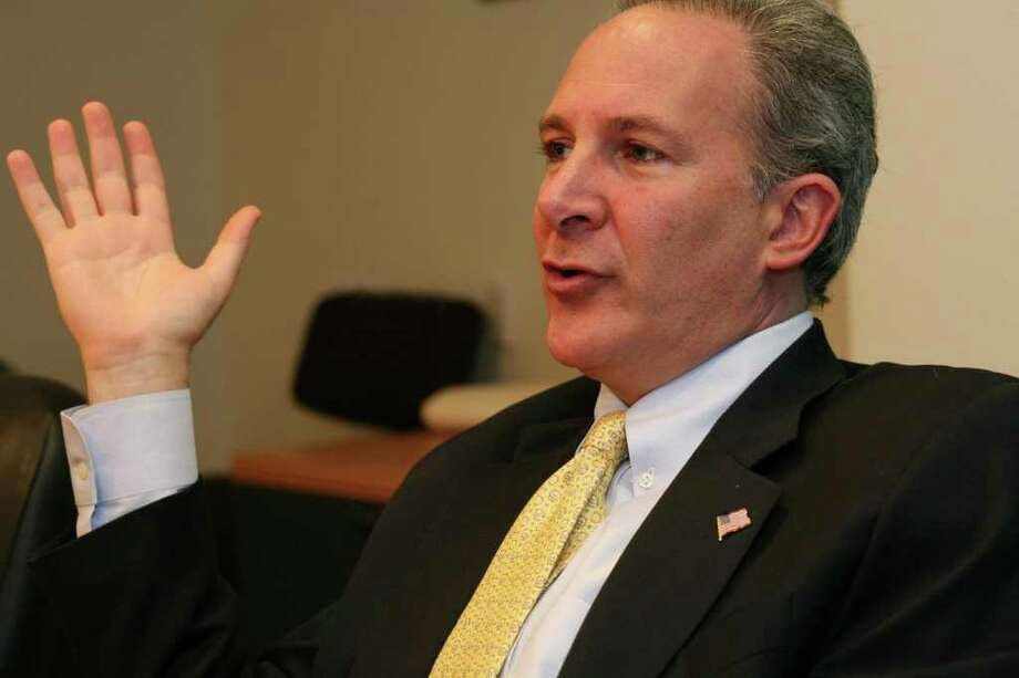 Former Republican candidate for U.S. Senate Peter Schiff, shown here in June 2010. Photo: File Photo, ST / Greenwich Time File Photo