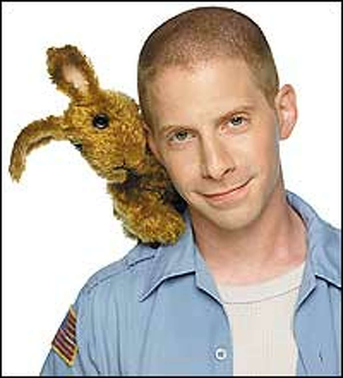Greg the Bunny finds a shoulder to lean on with Jimmy (Seth Green).