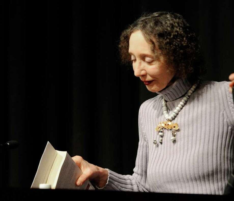 Printeton University professor, finalist for the Pulitzer Prize and National Book Award winner Joyce Carol Oates spoke at HVCC in Troy, New York March 11, 2011.  (Skip Dickstein / Times Union) Photo: Skip Dickstein / 2008