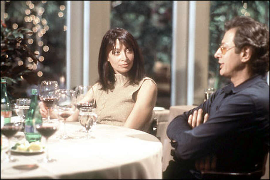 "Illeana Douglas and Jeff Goldblum are two of the dinner partners featured in the second installment of ""Dinner for Five."" Three-hour chats are cut to 30-minute air time. Photo: / Independent Film Channel"