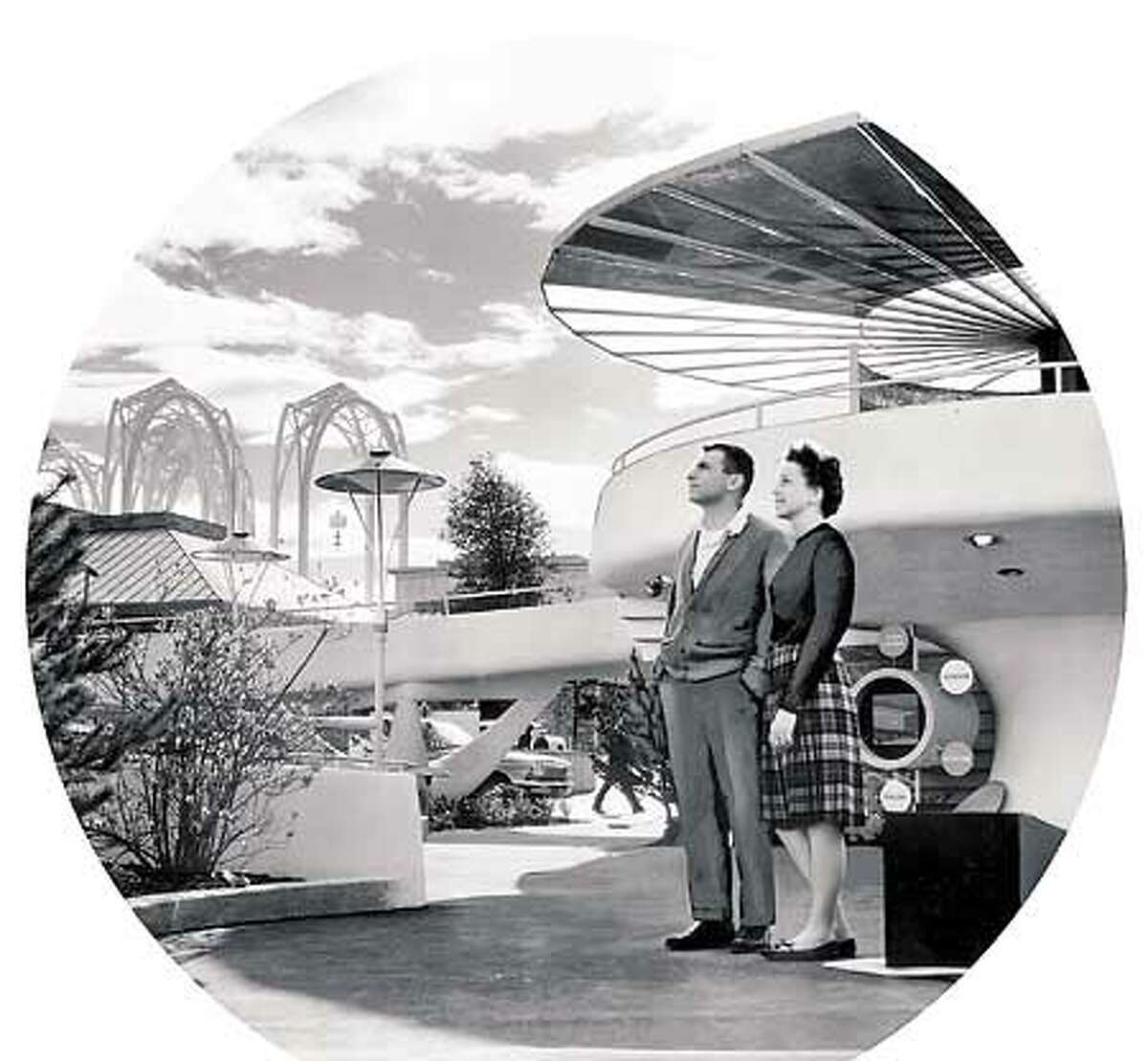 """A vision of the """"future"""" at the 1962 World's Fair in Seattle."""