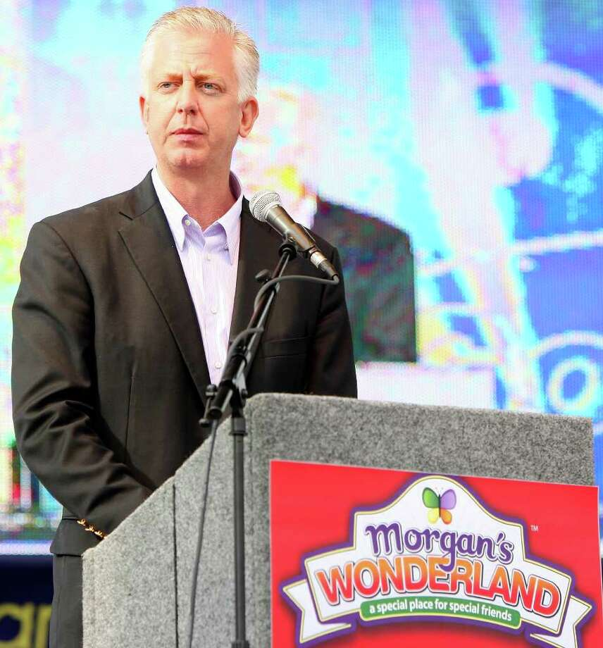 FOR  METRO - Gordon Hartman speaks during the grand opening of Morgan's Wonderland Saturday April 10, 2010. (PHOTO BY EDWARD A. ORNELAS/eaornelas@express-news.net) Photo: EDWARD A. ORNELAS, Express-News File Photo / eaornelas@express-news.net