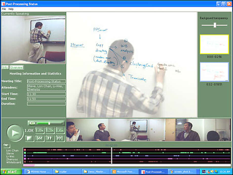 Technology developed by Microsoft allows videoconferencing with a DSL connection. Compression techniques let people view meetings in half the time. Photo: / P-I File