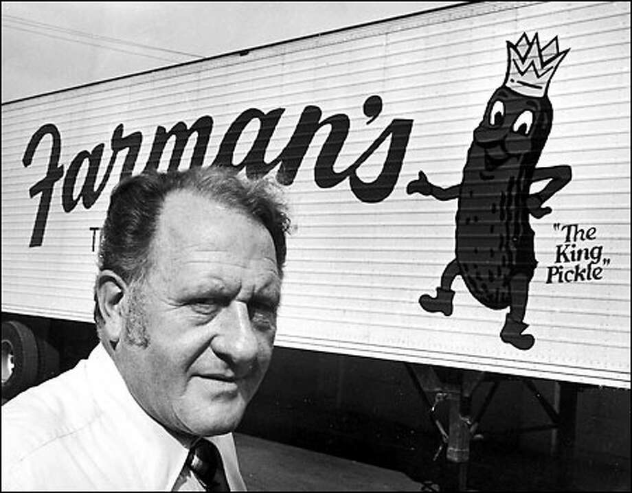 Dick Farman, along with his brother, built a pickle business with a name that has become synonymous with the product throughout the Northwest. (1977 file photo) Photo: / Seattle Post-Intelligencer