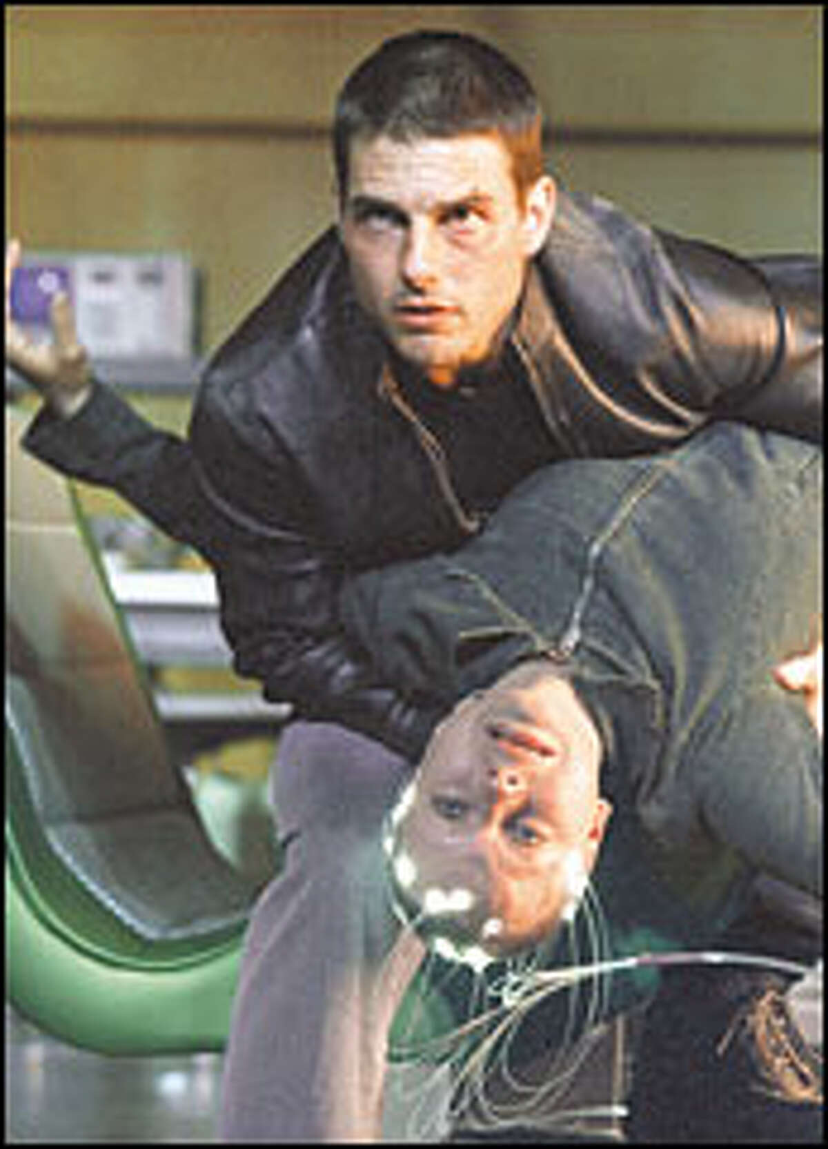 Tom Cruise and Samantha Morton in the futuristic thriller