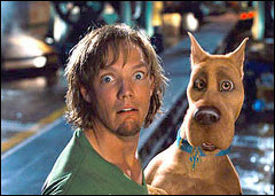 Matthew Lillard is a perfect Shaggy, the beatnik pal of Scooby-Doo. The film follows the flea-bitten TV-cartoon style with few surprises. Photo: WARNER BROS.