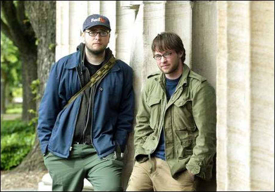 """Derrick Clark, left, and Scotty Weeks lived on the streets for a week. """"I don't think I braced myself for the reality it was gonna be,"""" Clark said. Photo: / Seattle Post-Intelligencer"""