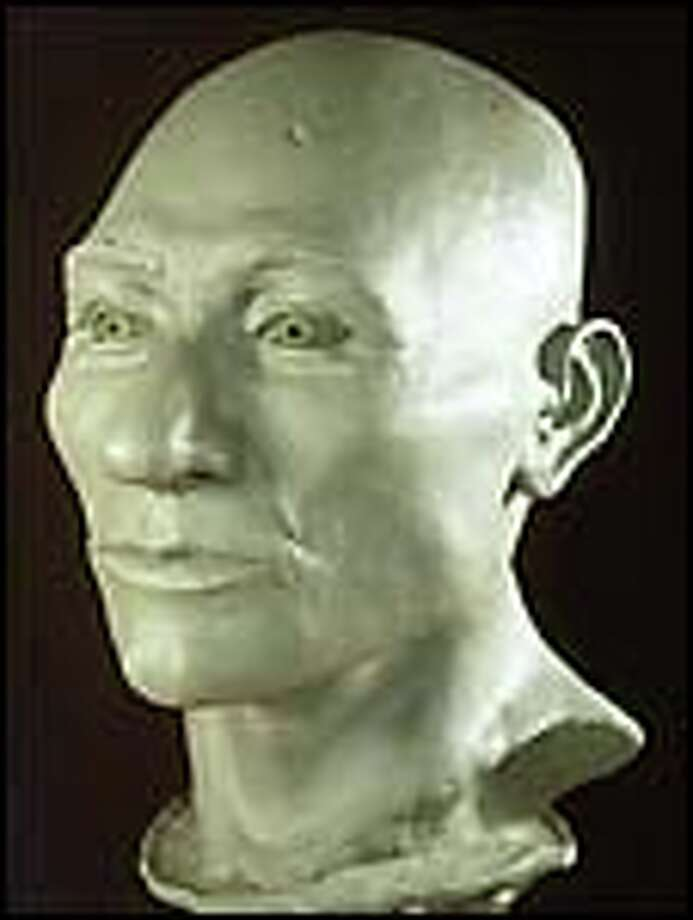 A clay model of the head of Kennewick Man, based on a skull found in July 1996. Photo: AP