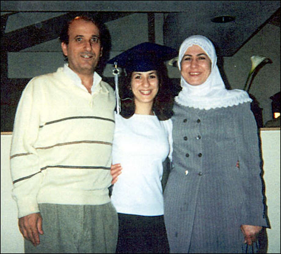 Three members of the Hamoui family -- Safouh, 51, Nadine, 20, and Hanan, 41 -- have been in INS custody for six months. Safouh and Hanan's two younger children are U.S. citizens. Photo: / Family Photo