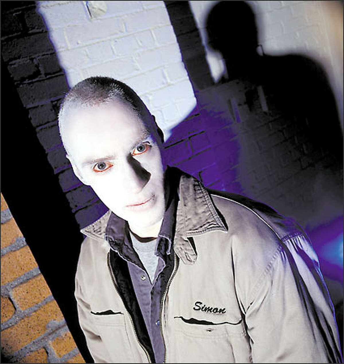 """Simon (John Mann) is the villainous ghost that helps make UPN's """"Haunted"""" scary. The dark and creepy series is set in Seattle, but shot in Vancouver, B.C."""