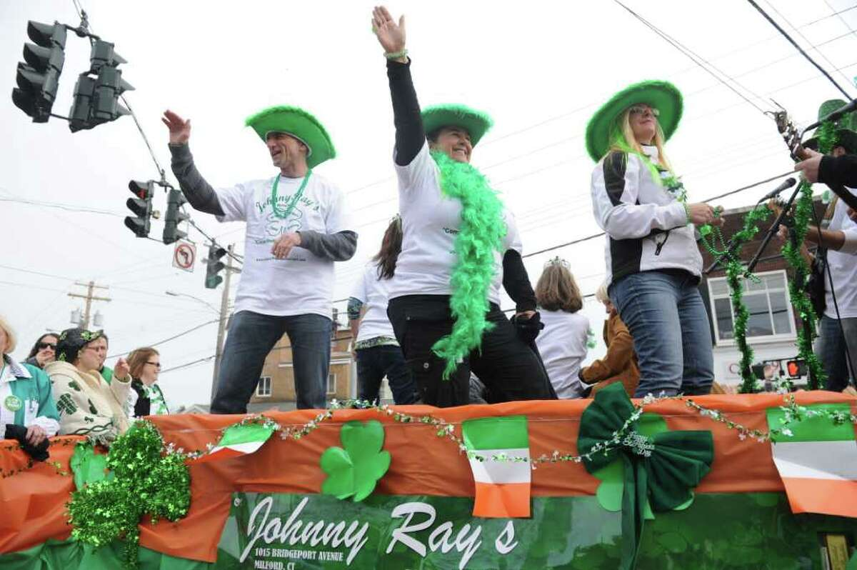 Milford's St. Patrick's Day Parade moves through dowtown Milford, Conn. Saturday, March 12, 2011.