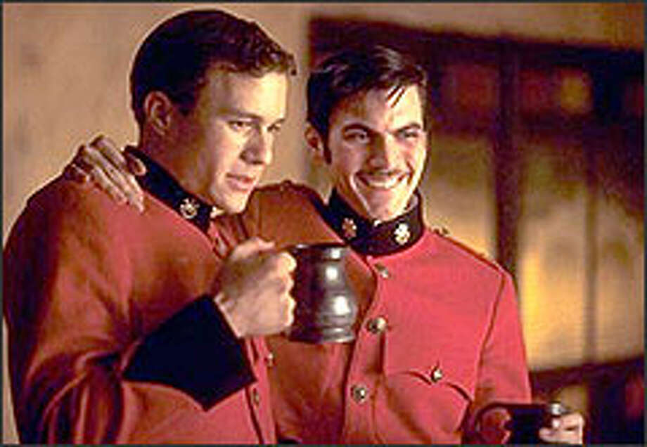 Harry (Ledger, below left) and fellow British officer Durrance (Wes Bentley) were best of friends until Harry resigns his commission on the eve of his regiment's departure for war in the Sudan.