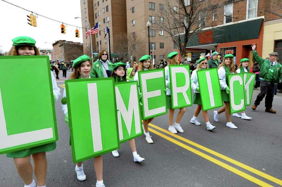 The Limericks step it up in the annual St. Patrick's Parade on Saturday, March 12, 2011, in Albany, N.Y. (Cindy Schultz / Times Union)
