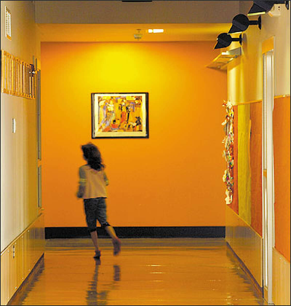 The interior of the Terrace Park School in Mountlake Terrace is shown. The new school is part of a trend toward expanding elementary schools to include up to eighth grade.