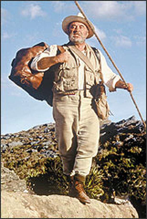 Bob Hoskins is convincing as the imposing Prof. George Challenger, part explorer, part scientist, part showman.