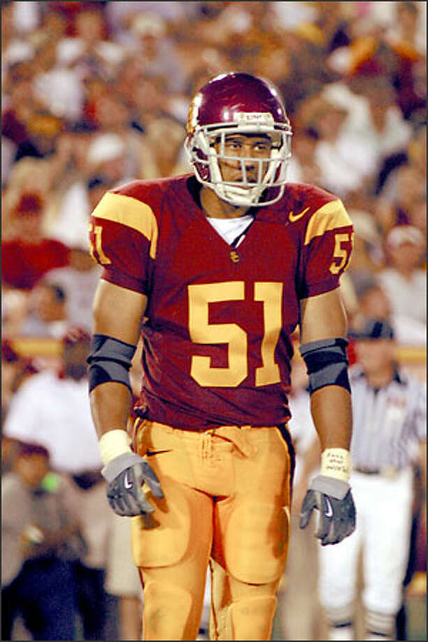 "An April 2001 frat party fight caused Melvin ""Champ"" Simmons to transfer from Washington State to USC. Photo: USC"