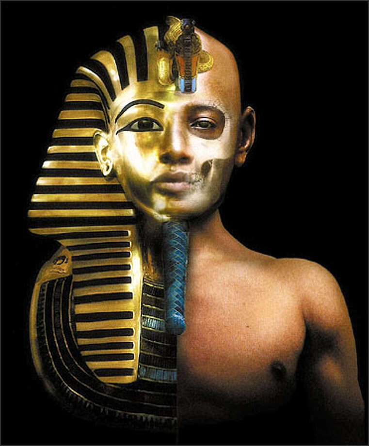 "The face of King Tut goes from death mask to computer generated image of the boy king on the Discovery Channel's ""The Assassination of King Tut."" Photo: / Discovery Channel"