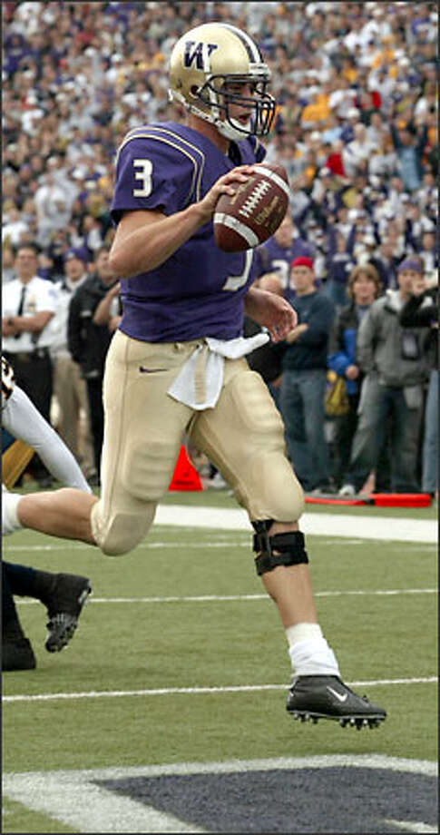 UW's Cody Pickett dropped from fifth to 22nd in passing efficiency. Photo: Grant M. Haller/Seattle Post-Intelligencer