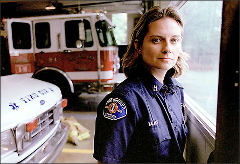 After her own battle with depression, Deb Talley, a captain at Mountlake Terrace Fire Station No. 18, hopes to someday counsel others. Photo: Paul Joseph Brown/Seattle Post-Intelligencer