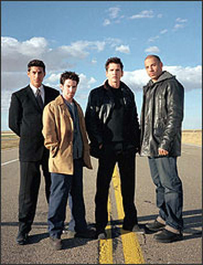 From left, Andrew Davoli, Seth Green, Barry Pepper and Vin Diesel portray second-generation, unemployed hoods in an era of fading mob opportunities. Pepper and Diesel outshine the other cast members. Photo: THE ASSOCIATED PRESS