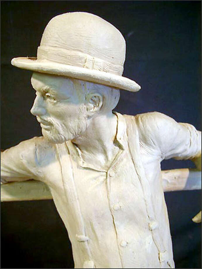 "Artist Bob McDermott wants to immortalize Fairhaven founder ""Dirty Dan"" Harris in sculpture. Photo: /"