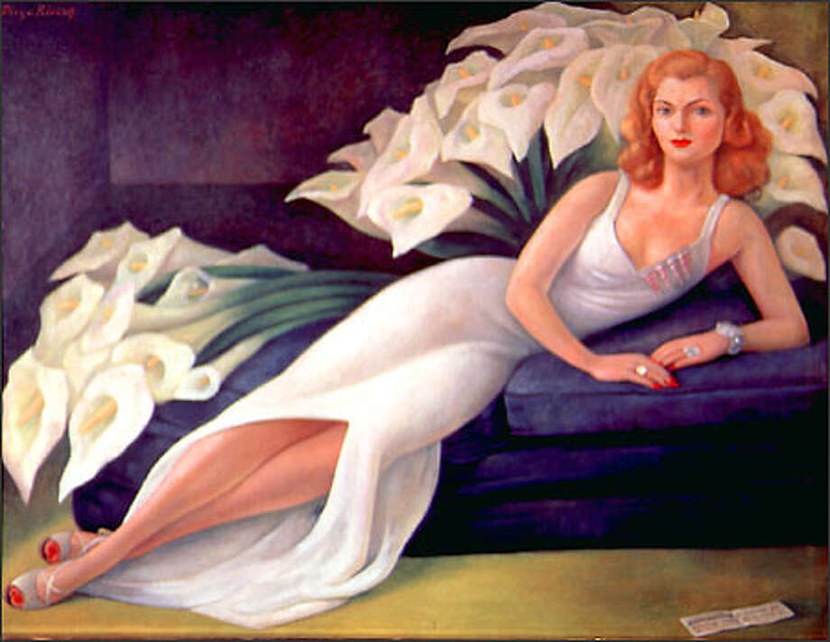"""Retrato de la Señora Natasha Gelman"" (Portrait of Mrs. Natasha Gelman), 1943, Diego Rivera, Mexican 1907-1954. Oil on canvas, 115 x 153 cm. Courtesy of the Vergel Foundation, New York. © 2002 Banco de Mexico, Diego Rivera & Frida Kahlo Museum Trust. Photo: /"