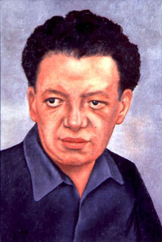 """""""Portrait of Diego Rivera"""" (Retrato de Diego Rivera), 1937. Frida Kahlo, Mexican, 1907-1954. Oil on masonite, 53 x 39 cm. Courtesy of the Vergel Foundation, New York. © 2002 Banco de Mexico, Diego Rivera & Frida Kahlo Museum Trust Photo: /"""
