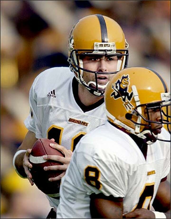 ASU's Andrew Walter set a Pac-10 record passing for 536 yards against Oregon last Saturday. Photo: / Associated Press
