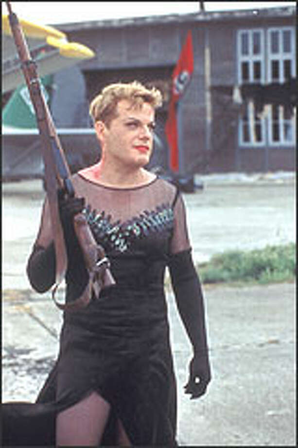 Eddie Izzard plays one of the military misfits who is sent to Berlin -- in drag -- to steal a code machine from a factory staffed by women.