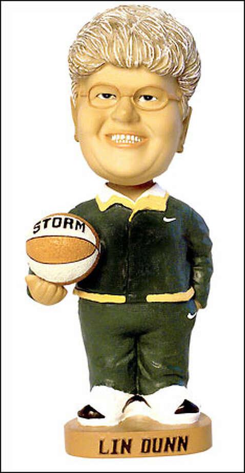 Lin Dunn bobblehead doll. Photo: Grant M. Haller/Seattle Post-Intelligencer