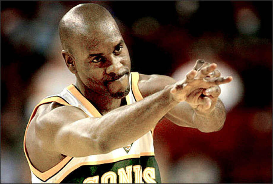 Gary Payton is the point guard whose steel-jawed toughness has defined his team's personality for more than a decade.  But does he have a future with the team? Photo: Grant M. Haller/Seattle Post-Intelligencer