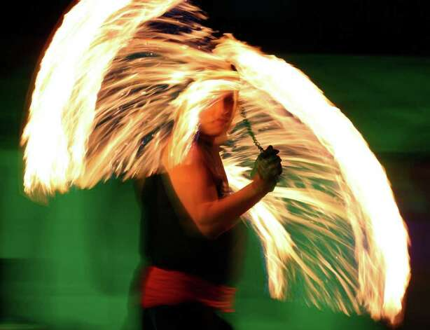 "Donald ""Blaze"" Martinez of the group Brothers of the Flame performs during Luminaria 2011 in HemisFair Park on Saturday, March 12, 2011. Photo: Edward A. Ornelas/Express-News / SAN ANTONIO EXPRESS-NEWS NFS"