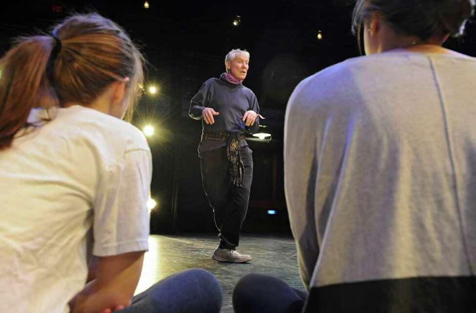 Former New York City Ballet principal dancer Jacques d'Ambosie works with Union College students at the Yulman Theater at Union College in Schenectady, NY on Thursday, March 3, 2011. (Lori Van Buren / Times Union)